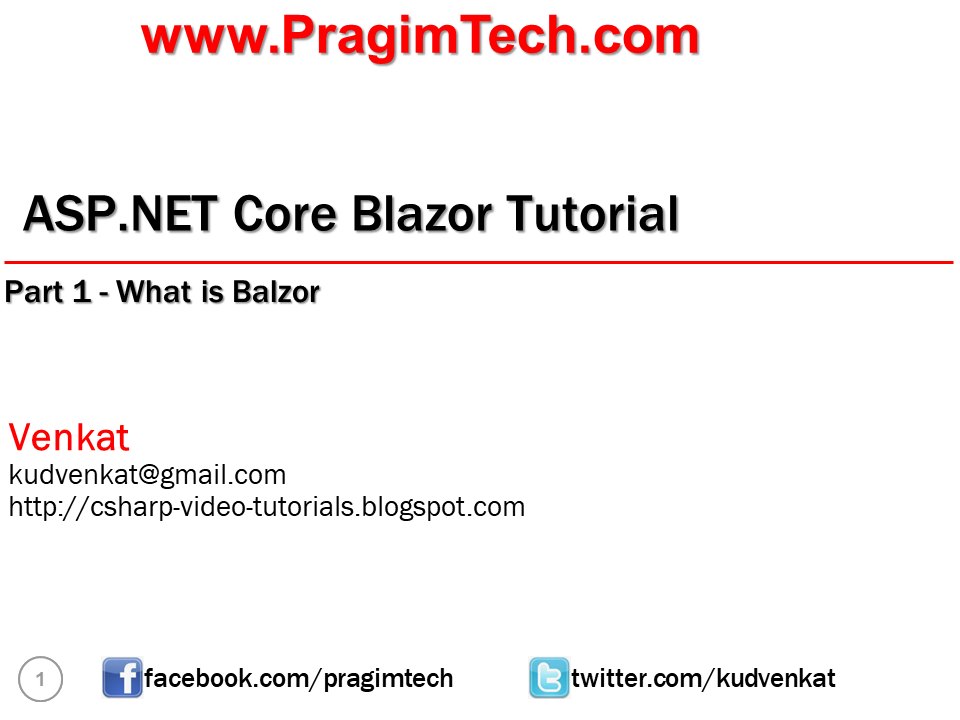 Blazor tutorial for beginners