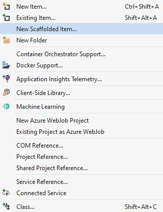 asp.net core identity scaffolding