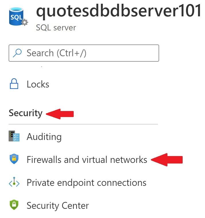 azure sql database add firewall rule