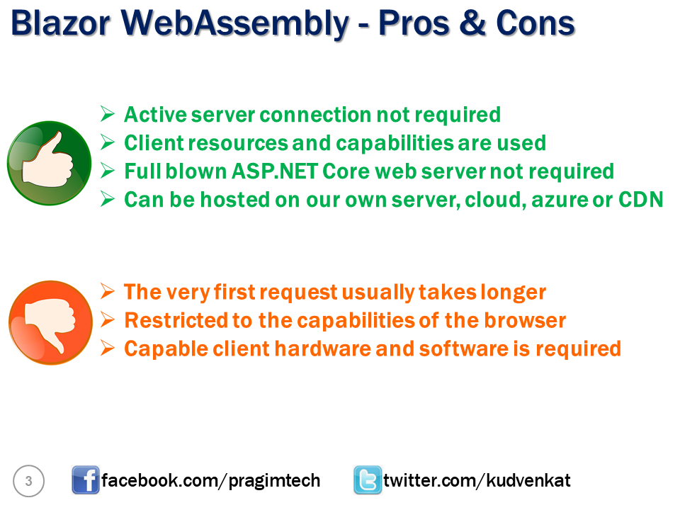blazor webassembly pros and cons