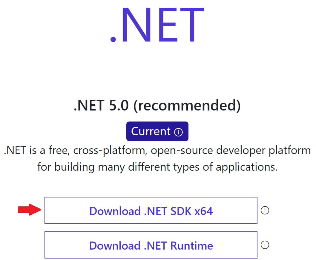 how to install .net 5
