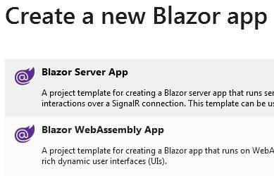 blazor webassembly app template missing