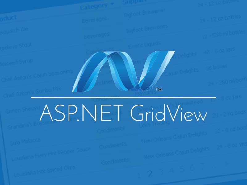 ASP NET webforms gridview tutorial for beginners with examples